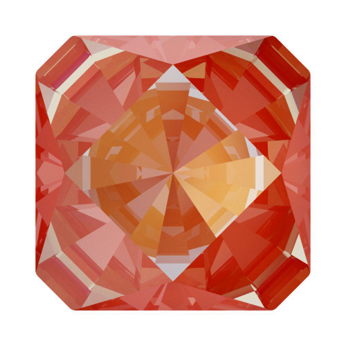 Swarovski 4499 10mm Kaleidoscope Square Fancy Stones  Crystal Orange Glow Delite