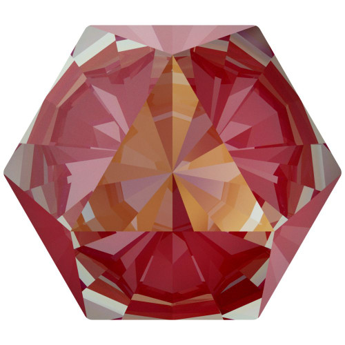 Swarovski 4499 10mm Kaleidoscope Square Fancy Stones  Crystal Royal Red Delite