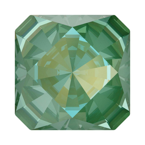 Swarovski 4499 10mm Kaleidoscope Square Fancy Stones  Crystal Silky Sage Delite
