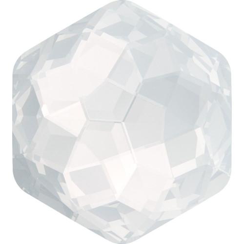 Swarovski 4683 10mm Fantasy Fancy Stones White Opal