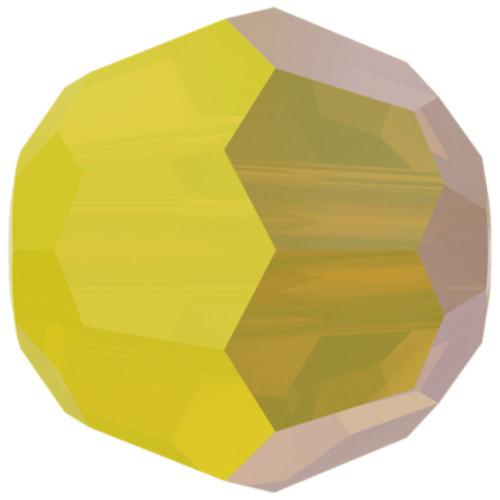 Swarovski 5000 4mm Round Beads Yellow Opal Shimmer 2X