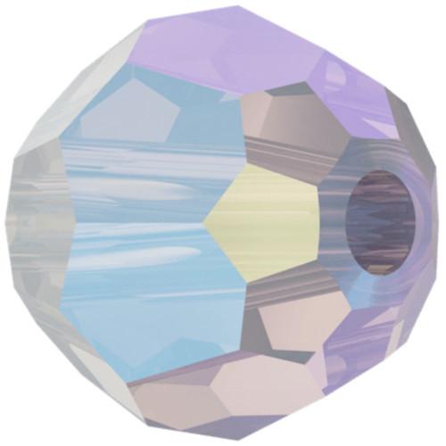 Swarovski 5000 6mm Round Beads White Opal Shimmer 2X