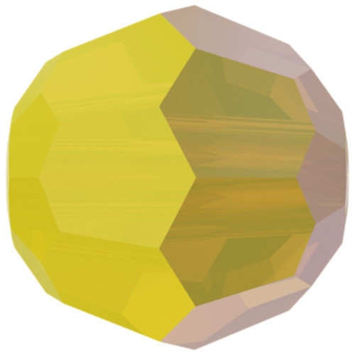Swarovski 5040 8mm Rondelle Beads Yellow Opal Shimmer