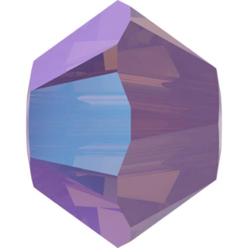 Swarovski 5328 3mm Xilion Bicone Beads Cyclamen Opal Shimmer