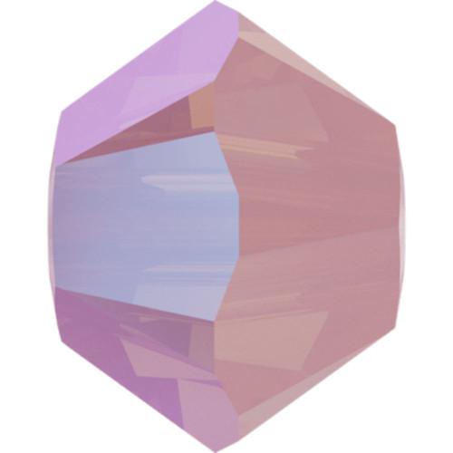 Swarovski 5328 3mm Xilion Bicone Beads Rose Water Opal Shimmer