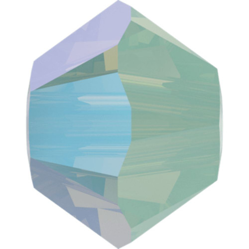 Swarovski 5328 4mm Xilion Bicone Beads Chrysolite Opal Shimmer 2X