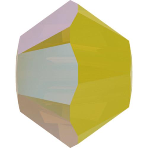 Swarovski 5328 4mm Xilion Bicone Beads Yellow Opal Shimmer