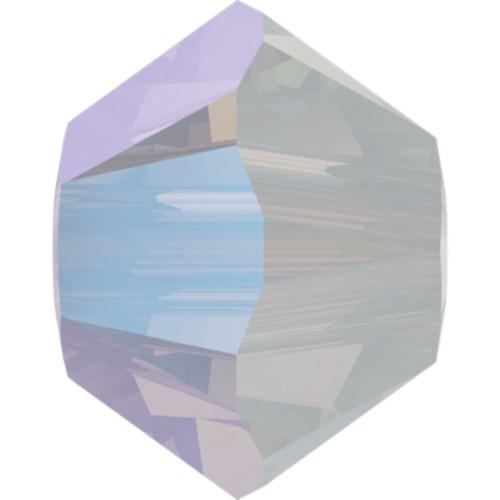 Swarovski 5328 6mm Xilion Bicone Beads White Opal Shimmer