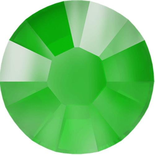 Swarovski 2038 10ss Xilion Flatback Crystal Electric Green DeLite Hot Fix