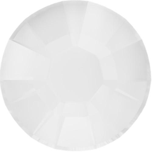 Swarovski 2038 10ss Xilion Flatback Crystal Electric White DeLite Hot Fix