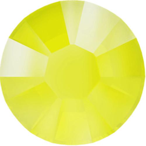 Swarovski 2038 10ss Xilion Flatback Crystal Electric Yellow DeLite Hot Fix