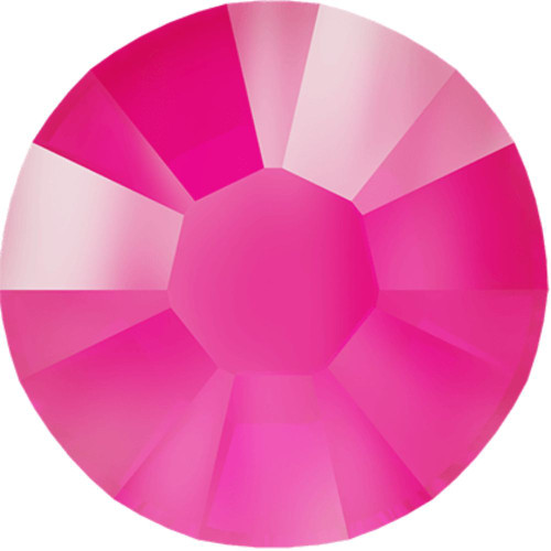 Swarovski 2078 34ss Xirius Flatback Crystal Electric Pink DeLite Hot Fix