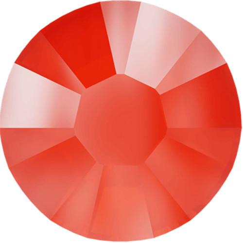 Swarovski 2088 12ss Xirius Flatback Crystal Electric Orange DeLite