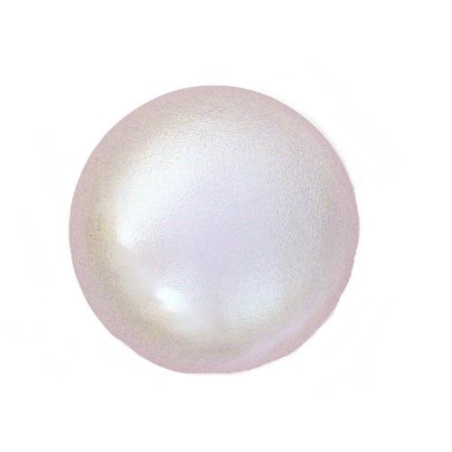 Swarovski 5818 8mm Half-Drilled Pearls Iridescent Dreamy Rose