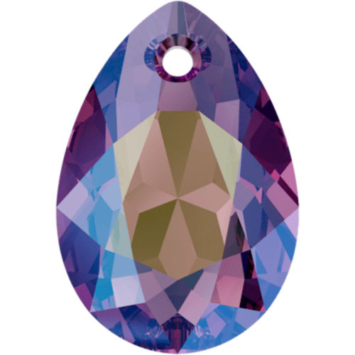 Swarovski 6433 16mm Pear Cut Pendants Amethyst Shimmer