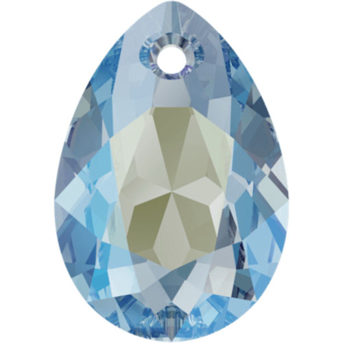 Swarovski 6433 16mm Pear Cut Pendants Aquamarine Shimmer