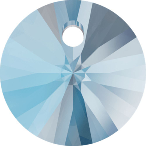 Swarovski 6428 8mm Wheel Pendant Aquamarine Shimmer