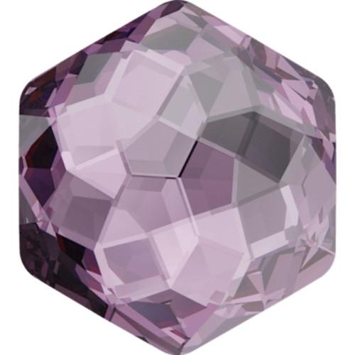 Swarovski 4683 10mm Fantasy Hexagon Fancy Stone Iris