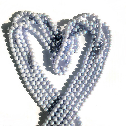 On Hand: Swarovski 5810 6mm Round Pearls Crystal Iridescent Dreamy Blue (100 pieces)