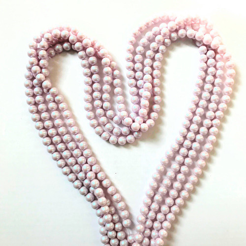 On Hand: Swarovski 5810 6mm Round Pearls Crystal Iridescent Dreamy Rose (100 pieces)