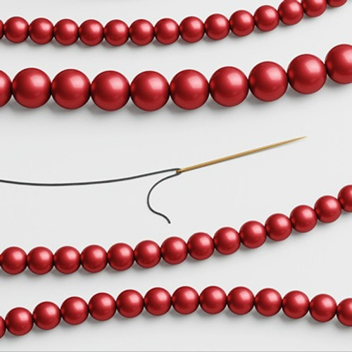 Swarovski 5810 6mm Round Pearls Rouge (100  pieces)