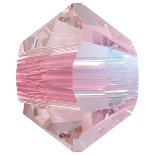 Swarovski  5328 5mm Xillion Bicone Beads Light Rose Shimmer