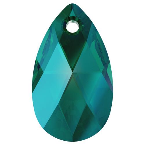 Swarovski  6106 22mm Pearshape Pendants Emerald Shimmer