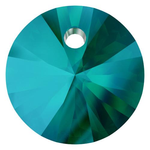 Swarovski  6428 6mm Wheel Pendants Emerald Shimmer