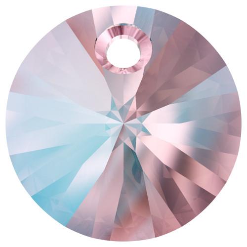 Swarovski  6428 8mm Wheel Pendants Light Rose Shimmer