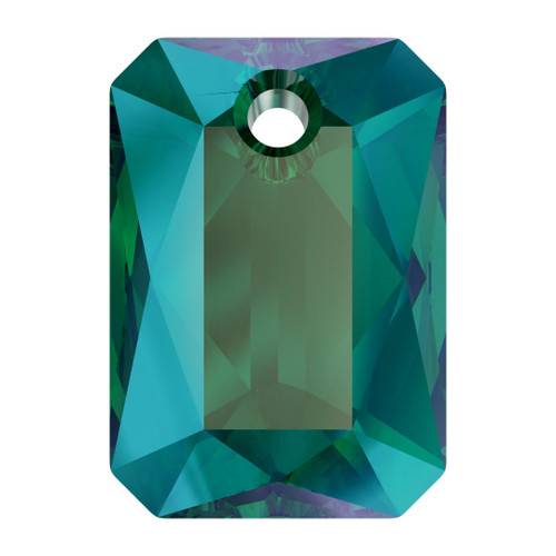 Swarovski  6435 11.5mm Emerald Cut Pendants Emerald Shimmer