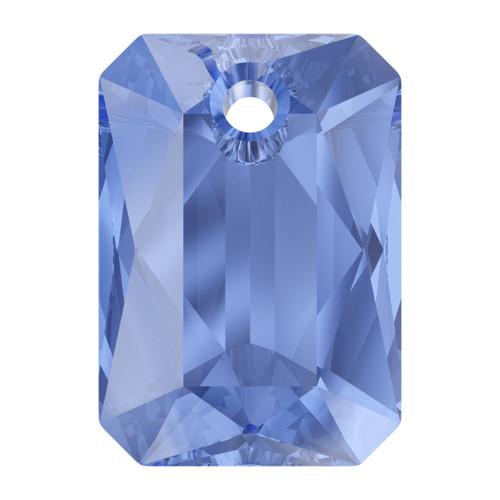 Swarovski  6435 11.5mm Emerald Cut Pendants Sapphire