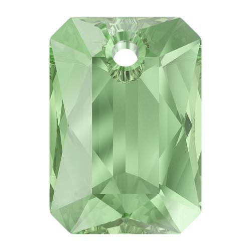 Swarovski  6435 16mm Emerald Cut Pendants Peridot