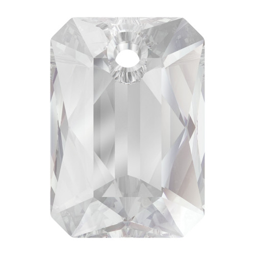 Swarovski  6435 9mm Emerald Cut Pendants Crystal