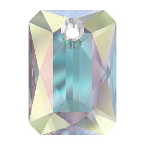 Swarovski  6435 9mm Emerald Cut Pendants Crystal AB