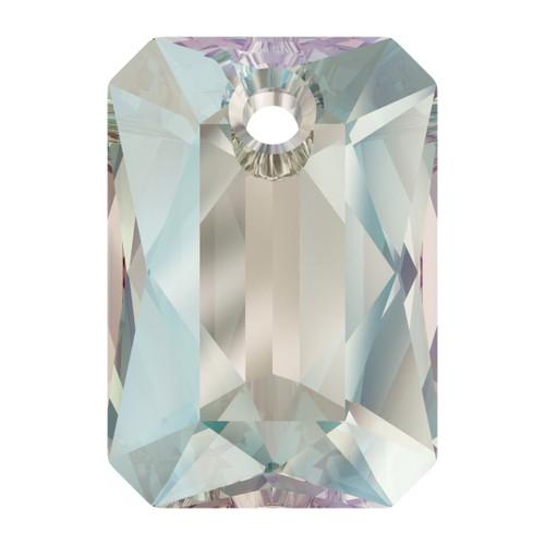 Swarovski  6435 9mm Emerald Cut Pendants Crystal Shimmer