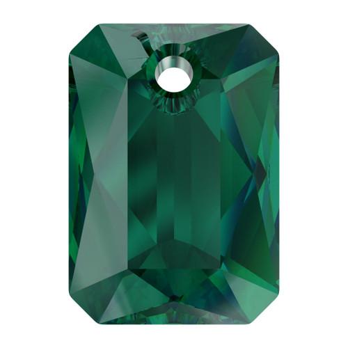 Swarovski  6435 9mm Emerald Cut Pendants Emerald