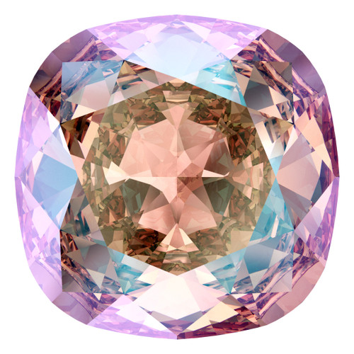 Swarovski  4470 10mm Cushion Fancy Stones Light Rose Shimmer