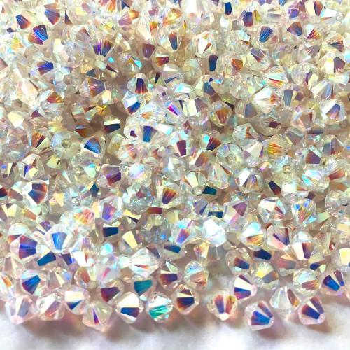 On Hand: Swarovski 5328 5mm Xilion Bicone Beads Crystal AB 2X   (72 pieces)