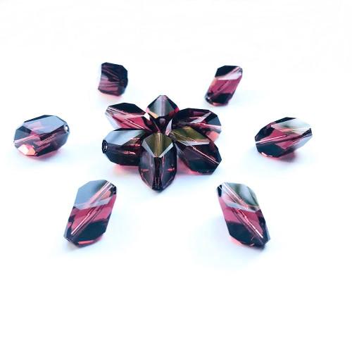 On Hand: Swarovski 5650 12mm Cubist Beads Burgundy   (6 pieces)