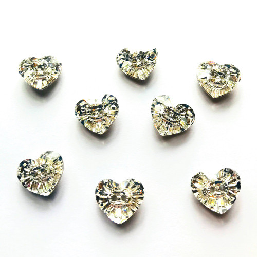 On Hand: Swarovski 3023 16mm Heart Button Crystal ( 2 pieces)