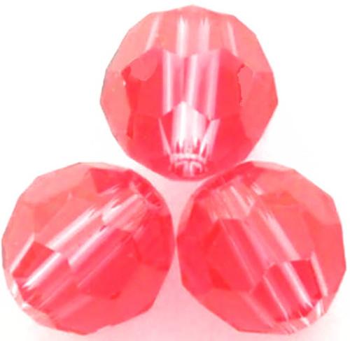 Swarovski 5000 4mm Round Beads Indian Pink  (72 pieces)