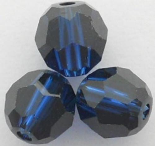 Swarovski 5000 6mm Round Beads Dark Indigo  (360 pieces)