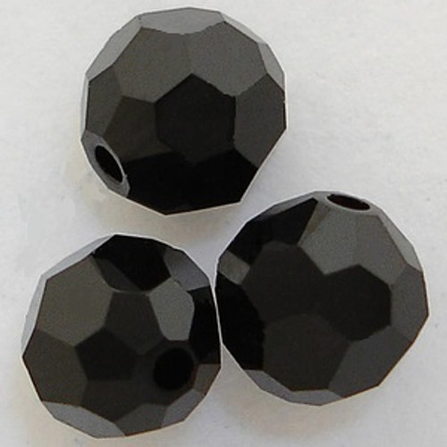 Swarovski 5000 8mm Round Beads Jet
