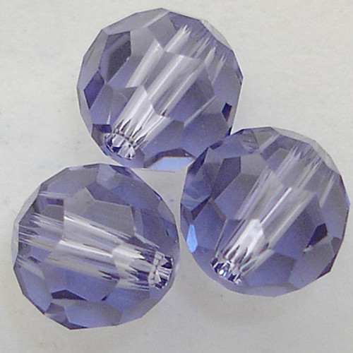 Swarovski 5000 8mm Round Beads Tanzanite  (12 pieces)