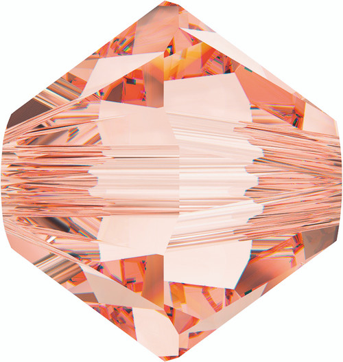 Swarovski 5328 6mm Xilion Bicone Beads Rose Peach   (36 pieces)