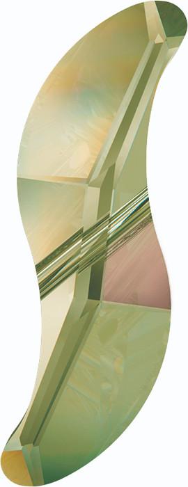 Swarovski 5525 28mm Wave Bead Crystal Luminous Green  (36 pieces)