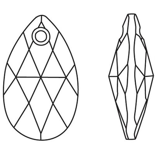 92b60a402 ... Swarovski 6106 38mm Pearshape Pendant Crystal (9 pieces) ...
