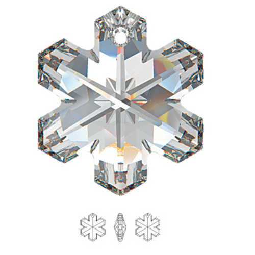 Swarovski 6704 30mm Snowflake Pendant Crystal AB  (2 pieces)