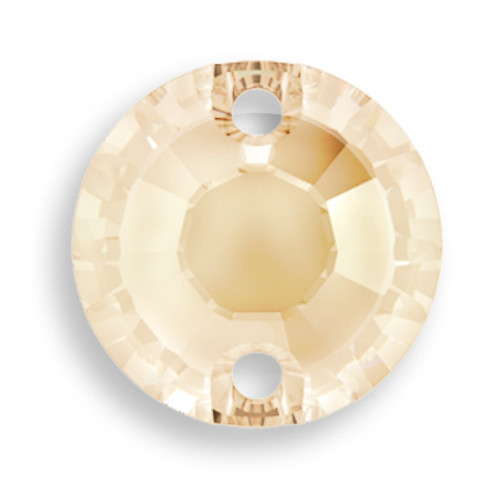 Swarovski 3204 12mm Xilion Sew On Crystal Golden Shadow