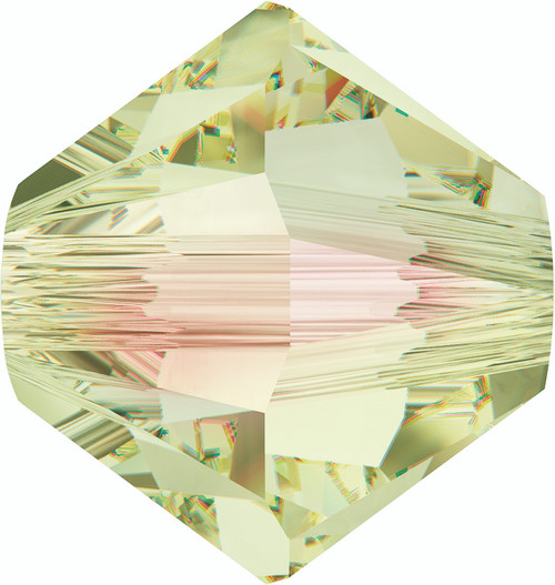 5328 Xilion Bicone Beads 6mm Crystal Luminous Green